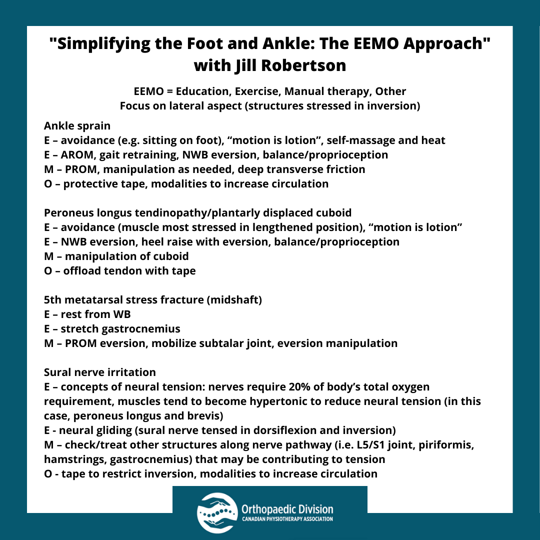 Webinar Summary - Foot and Ankle - EEMO Approach